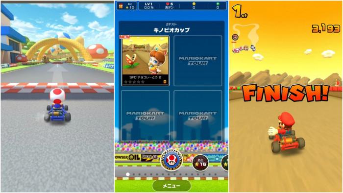 The Mario Kart mobile beta is underway