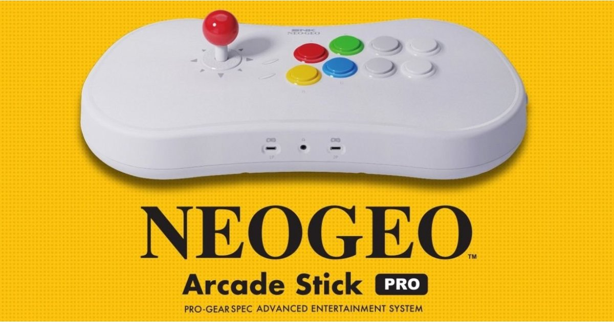 Neo Geo Stick is a retro games controller packed with 20 games