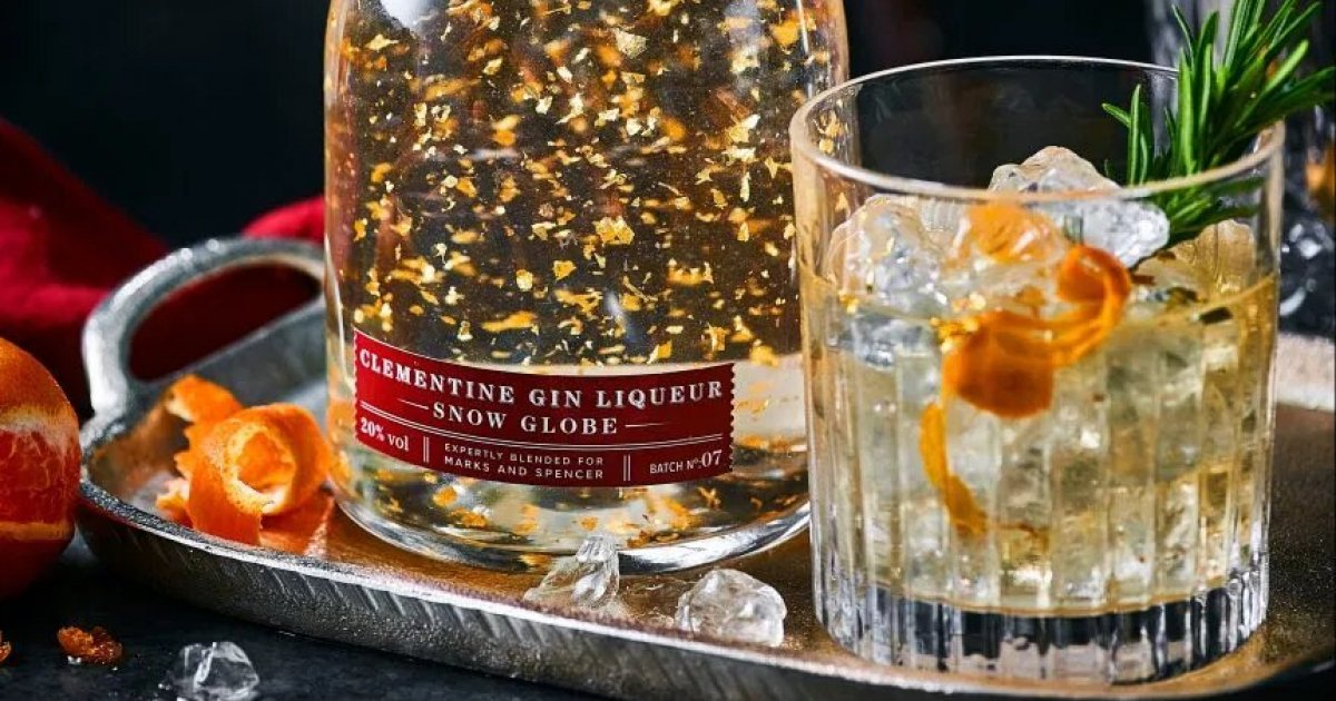 This gin 'snow globe' is pretty much Christmas in a bottle