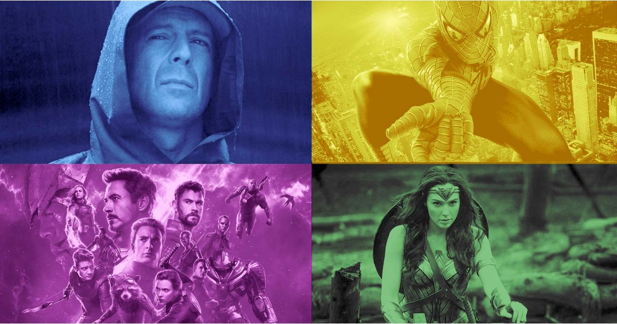 The ultimate superhero movies, books and characters