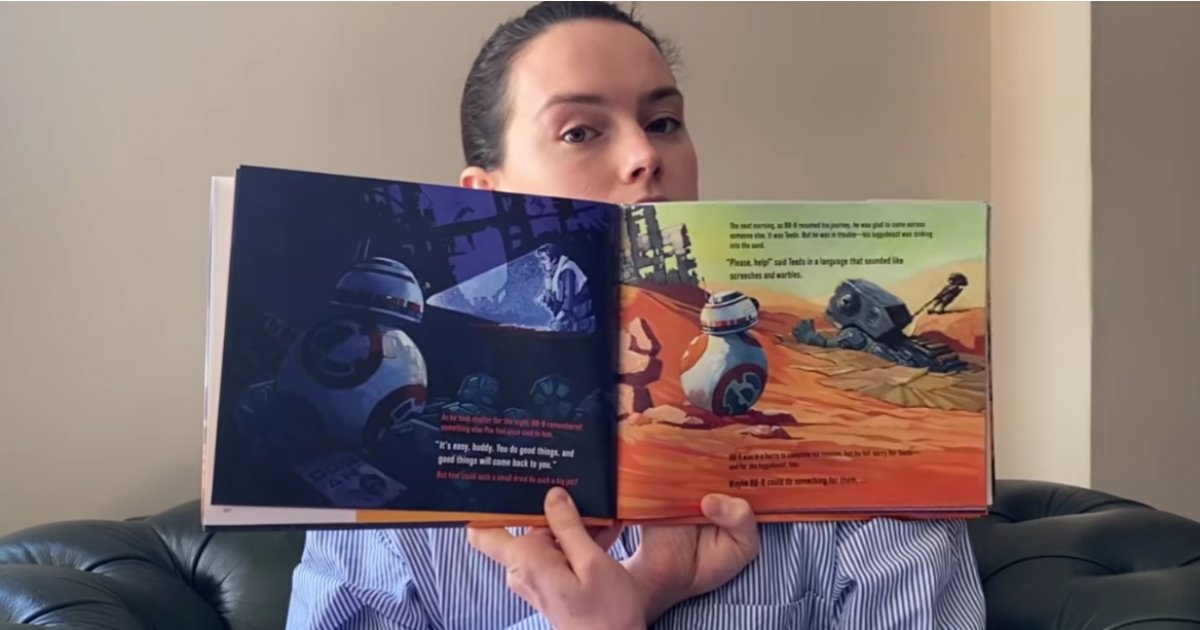 Daisy Ridley treats Star Wars fans to a BB-8 themed bedtime story