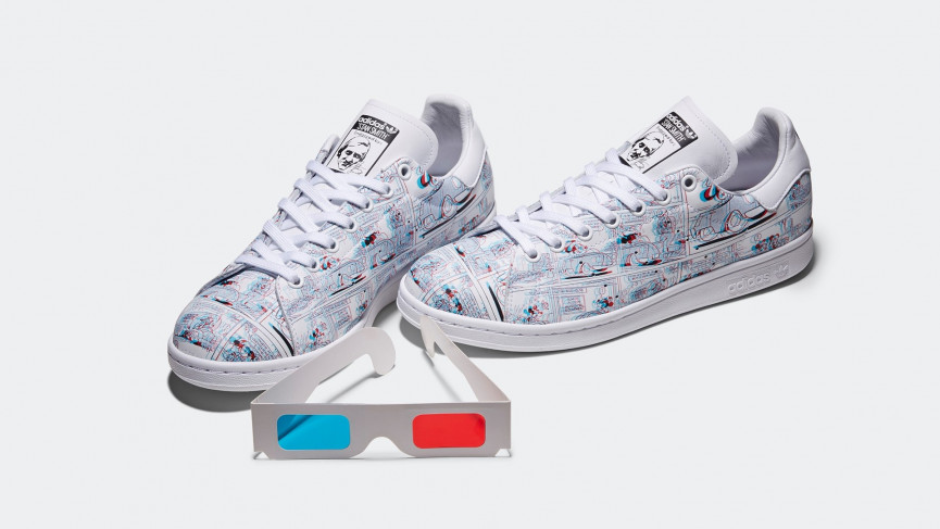 3D Mickey Mouse Stan Smith trainers